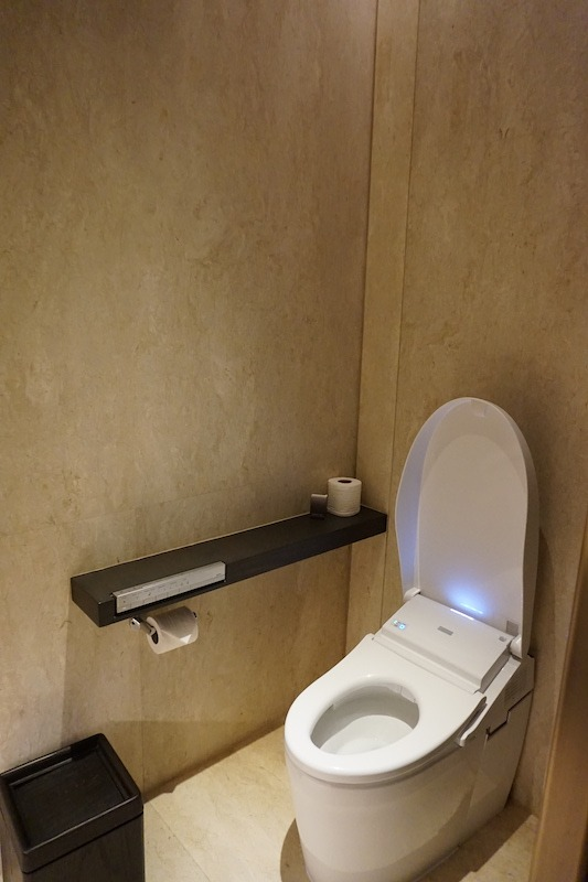 Guest toilet with bidet seat