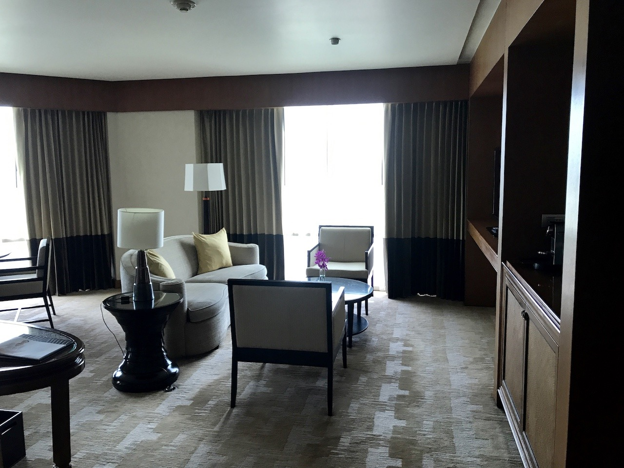 Suite living room from entrance