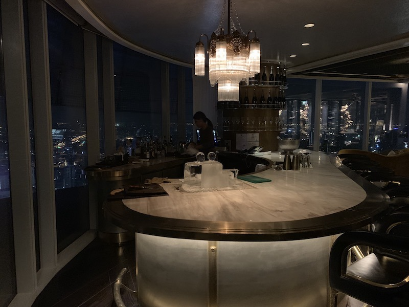 Top floor bar and view