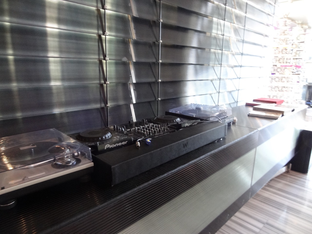 Turntables in the lobby