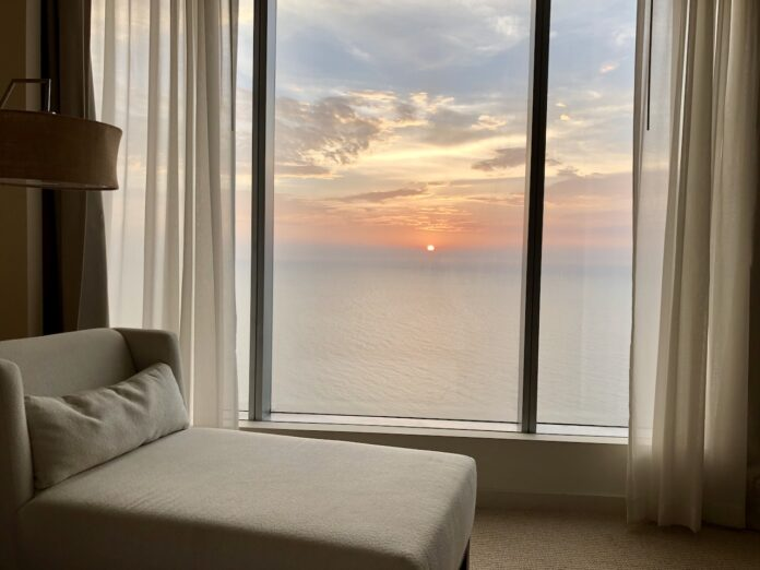 Hyatt Regency Cartagena suite bedroom sunset
