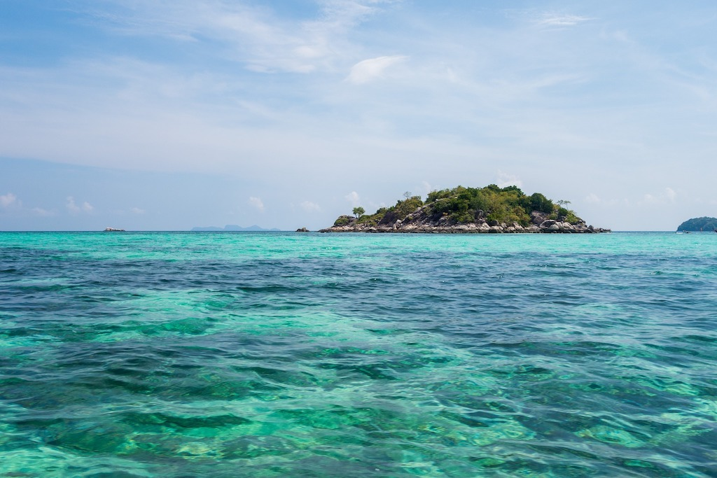 Blue Ocean during the best time of year to visit Thailand